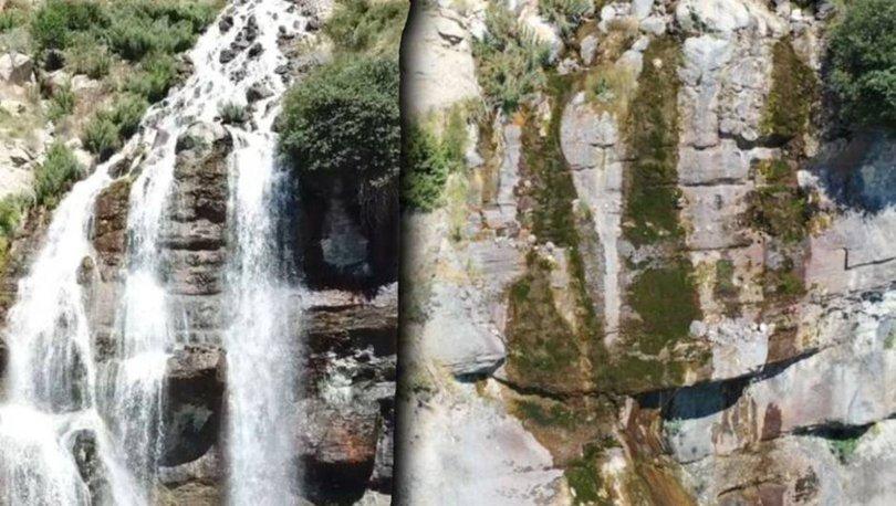 KURUDU! Son dakika: Turizm harikası şelalede su kalmadı - Haberler