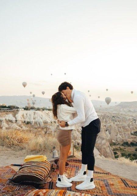 """Ebru Şahin, Cedi Osman'ın evlilik teklifine """"evet"""" dedi! - Son dakika magazin haberleri"""
