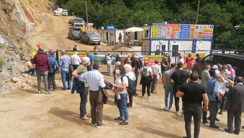 Son dakika: Rize'deki taş ocağı bölgesinde bilirkişi incelemesi