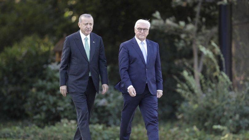 SON DAKİKA: Cumhurbaşkanı Erdoğan Almanya Cumhurbaşkanı ile görüştü!