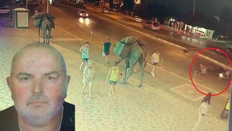 Alman turisti eşinden ayıran feci kaza
