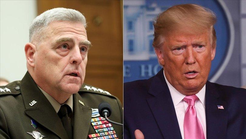 Trump, Genelkurmay Başkanı'nın Çin'le yaptığı iddia edilen gizli görüşmeleri