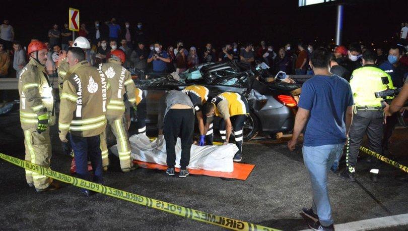 Beykoz'da lastiği patlayan otomobil dehşet saçtı: 3 ölü, 3 yaralı