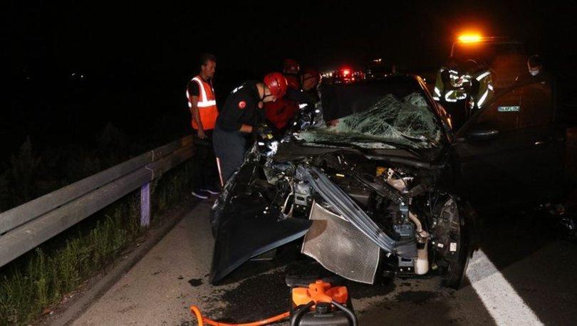 Kuzey Marmara Otoyolu'nda otomobil TIR'a çarptı: 1 ölü, 2 yaralı