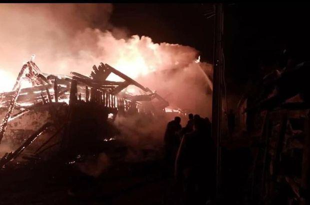 Ankara'da köyde yangın çıktı, 8 ev kül oldu