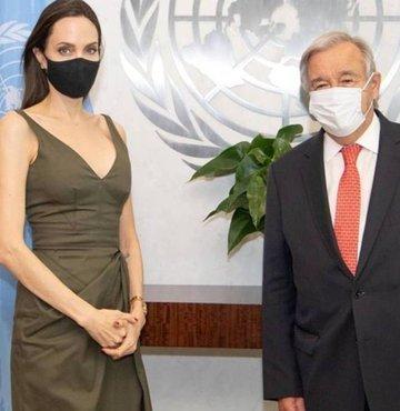 Birleşmiş Milletler Genel Sekreteri Antonio Guterres, BM Mülteciler Yüksek Komiserliği (BMMYK) İyi Niyet Elçisi ünlü oyuncu Angelina Jolie ile bir araya geldi.