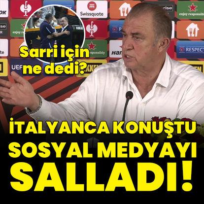 Terim'den İtalyanca cevap!