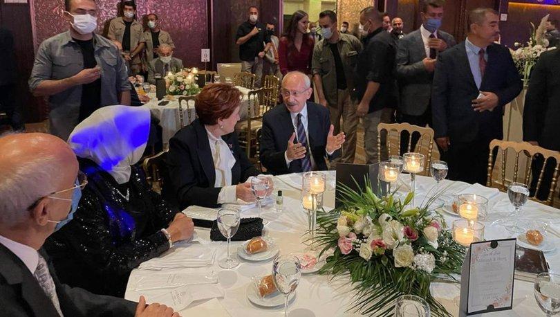 CHP Lideri Kılıçdaroğlu ve İYİ Parti Genel Başkanı Akşener düğünde bir araya geldi