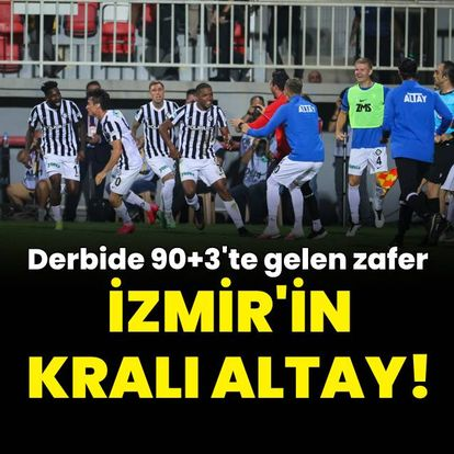 İzmir'in kralı Altay! 90+3...