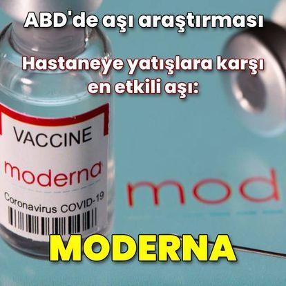 ABD: Hastaneye yatışlara karşı en etkili aşı Moderna
