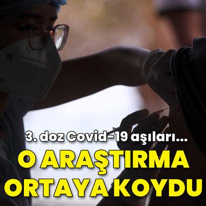 O araştırma ortaya koydu! 3. doz Covid aşıları...