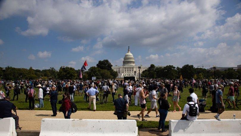 Washington'da Kongre baskınında tutuklananlar için destek gösterisi düzenlendi