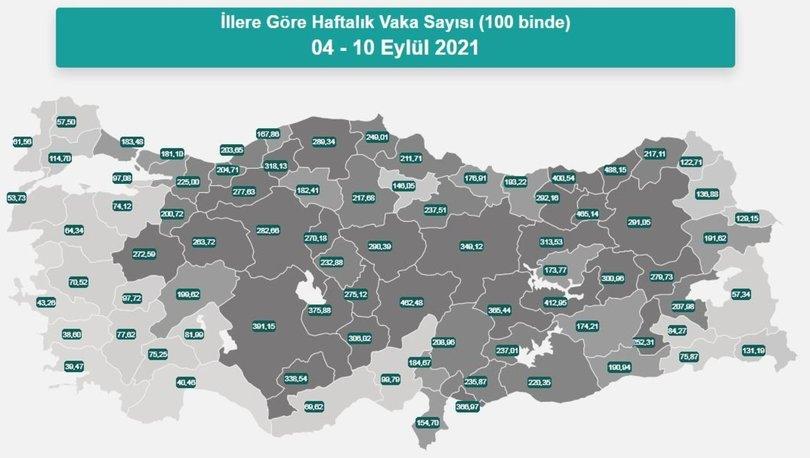 Korona risk haritası 19 Eylül | Korona salgınıyla mücadelede son durum: 10 ile dikkat!