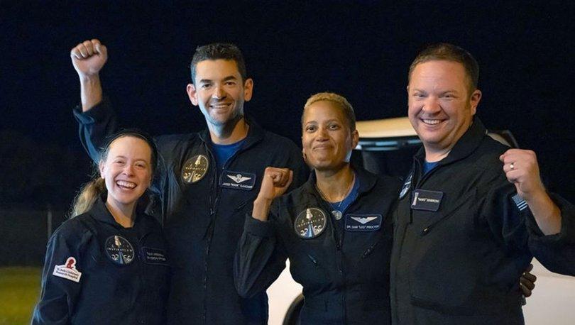 DÖNDÜLER... Son dakika: SpaceX'le yolculuğa çıkan uzay turistleri döndü!