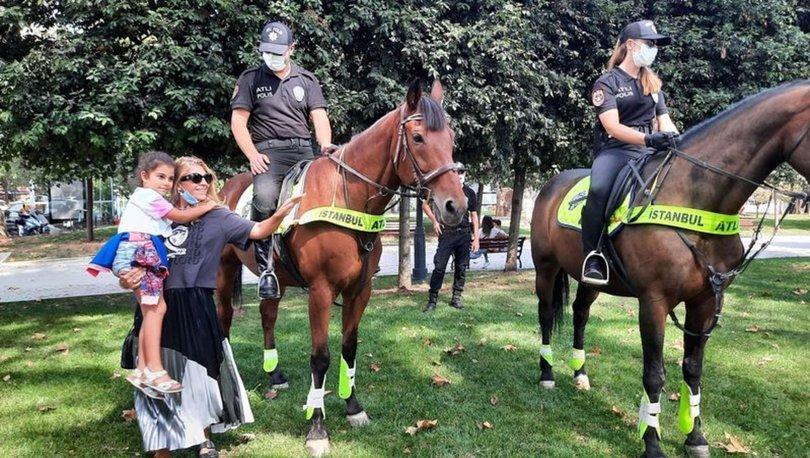 SAHADALAR... Son dakika: Beşiktaş'ta atlı polisler ilgi çektiler - Haberler