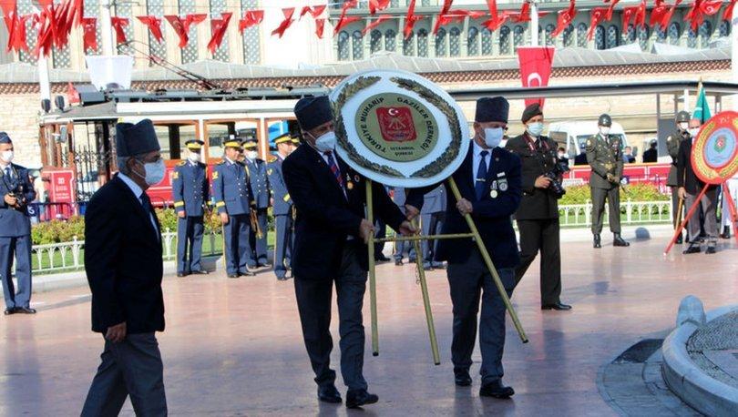VEFA GÜNÜ... Son dakika: Gaziler Günü için Taksim'de tören düzenlendi