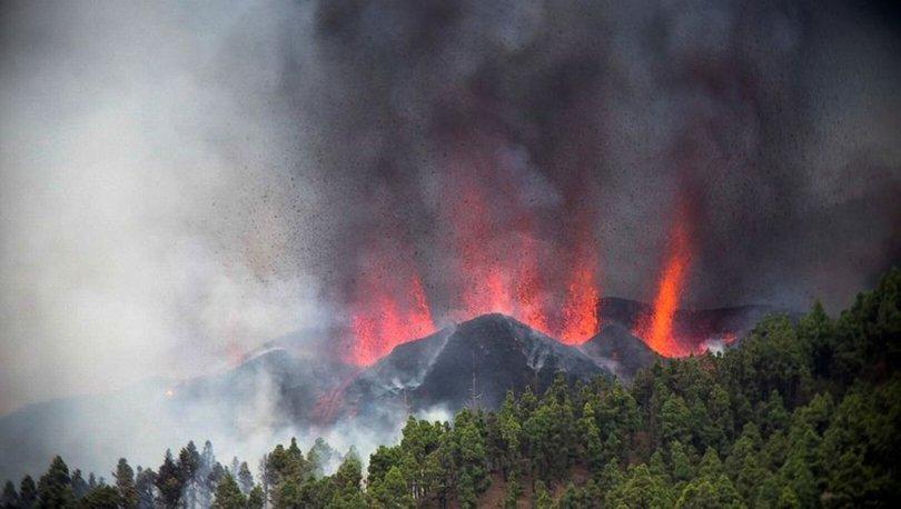 Kanarya Adaları'ndaki La Palma adasında volkanik patlama!