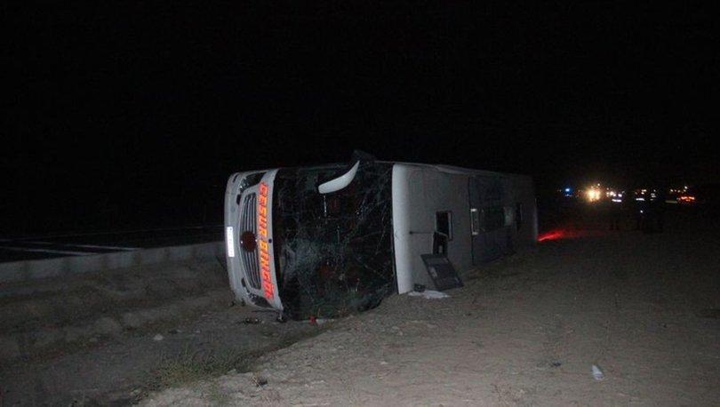 Son dakika... Konya'da yolcu otobüsü devrildi: Yaralılar var