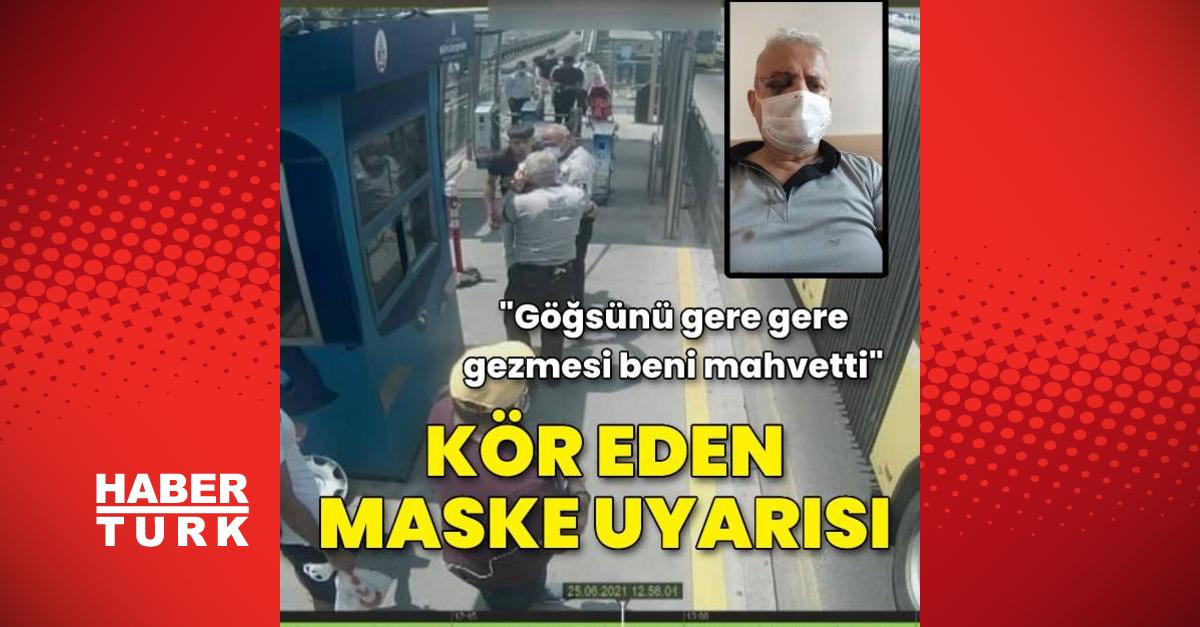 Metrobüste kör eden maske uyarısı