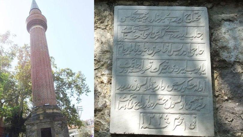 Camisi taşınan 'yalnız minare' ilgi odağı oldu