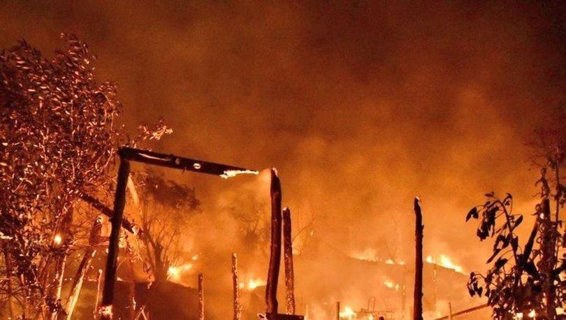 SON DAKİKA: Yunanistan'ın Sisam Adası'ndaki göçmen kampında yangın