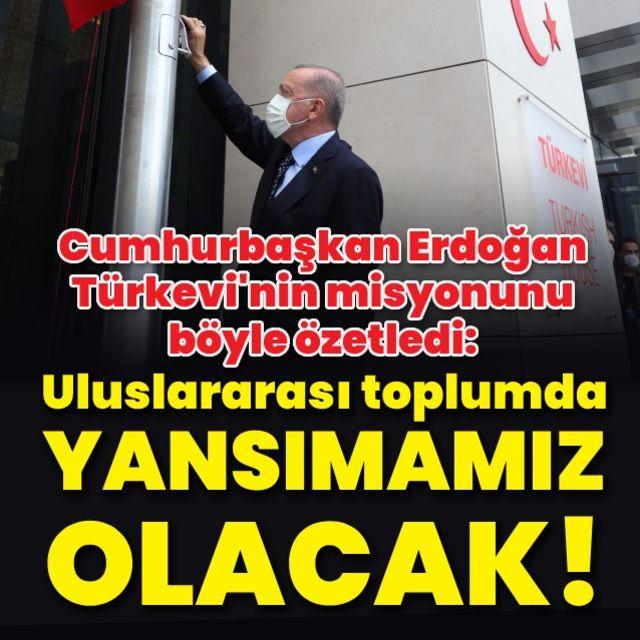 Cumhurbaşkanı Erdoğan New Yorktaki Türkevi açılışına katıldı