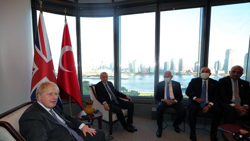 Cumhurbaşkanı Erdoğan ve İngiltere Başbakanı Johnson New York'ta görüştü
