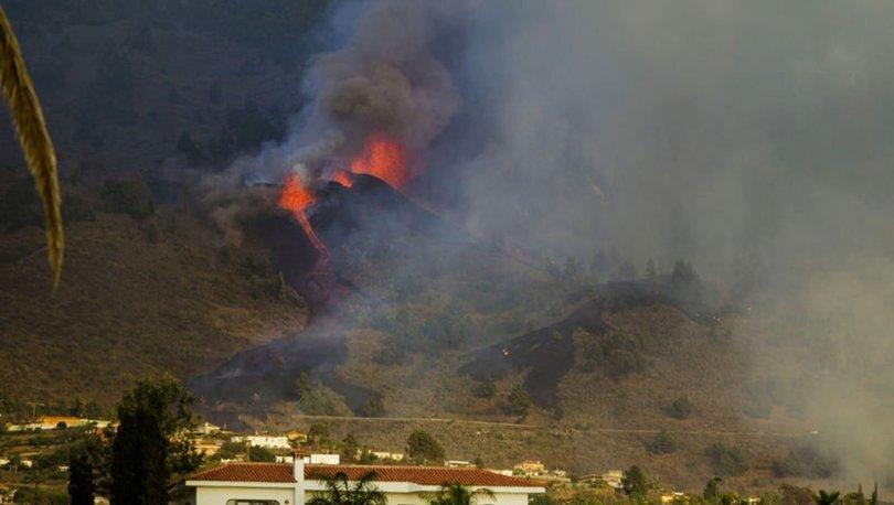 FİLM GİBİ... Son dakika: Yanardağ patladı, lavlar evleri yutarak ilerliyor - İspanya