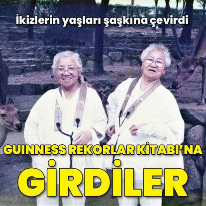 İkizlerin yaşları şaşkına çevirdi... Guinness'e girdiler