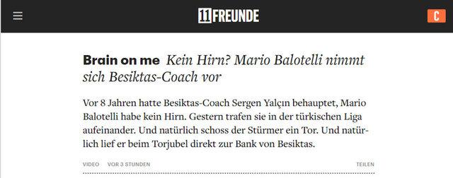 Balotelli'nin Sergen Yalçın'a hareketi dünya basınında!