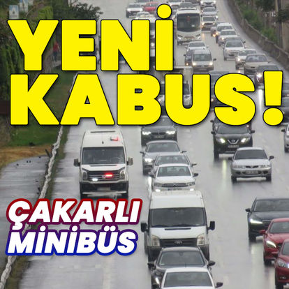 İstanbul'un yeni kabusu: Çakarlı minibüsler
