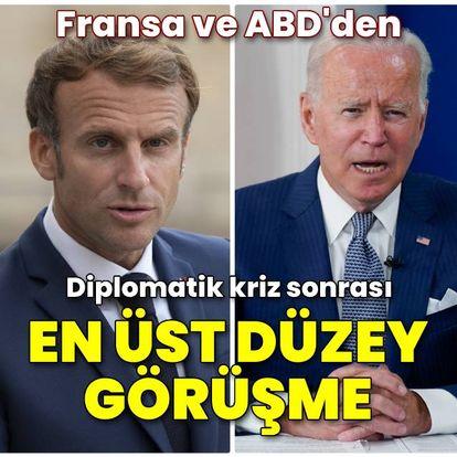 Fransa Cumhurbaşkanı Macron ve ABD Başkanı Biden telefonda konuştu