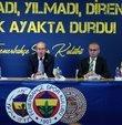 """Fenerbahçe Kulübü, """"Futbolda şike kumpası"""" davasının gerekçeli kararıyla ilgili basın toplantısı düzenledi. Kulüp avukatı Naim Karakaya, """"Bu örgüt büyük Fenerbahçe camiası ve taraftarının oluşturduğu sarı-lacivert duvara çarpmıştır. Maddi ve manevi zararlar eksiksiz giderilene kadar hukuk mücadelemizin yürütüleceğinden camiamızın şüphesi olmasın"""" dedi"""
