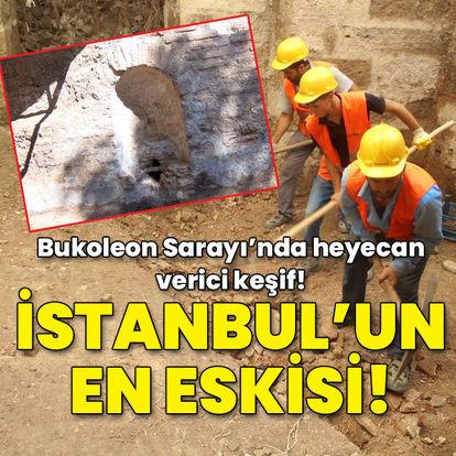 Bukoleon Sarayı'nda heyecan verici keşif! İstanbul'un en eskisi...