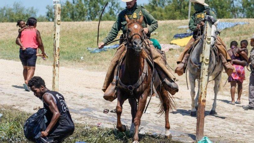 Biden'dan Meksika sınırında Haitili göçmenlere müdahale eden atlı ekiplere tepki