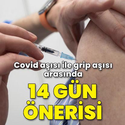 Covid aşısı ile grip aşısı arasında 14 gün önerisi