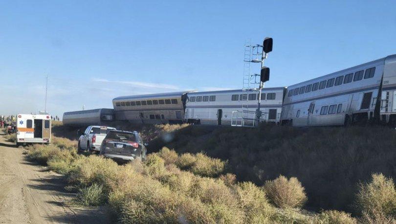 ABD'de yolcu treni raydan çıktı, en az 3 kişi öldü