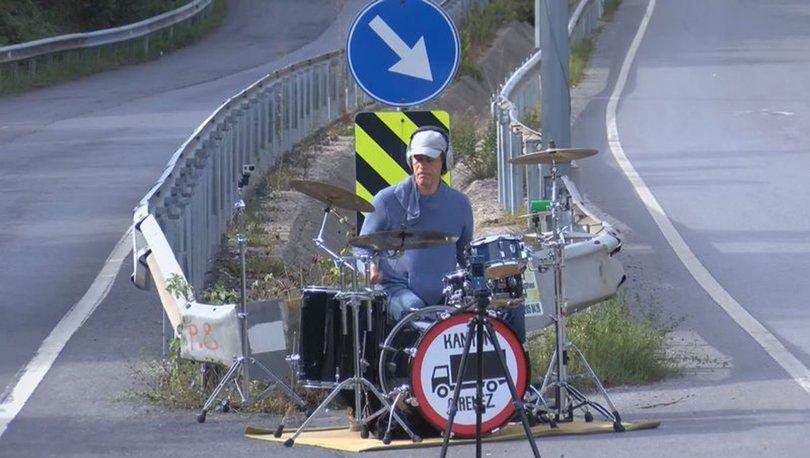 SON DAKİKA! Müzisyen Alpay Şalt'tan kamyoncu isyanı: Davul çalarak protesto etti