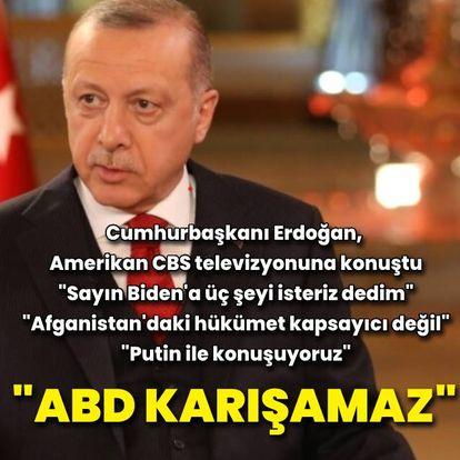 Cumhurbaşkanı Erdoğan: ABD kararını vermeli