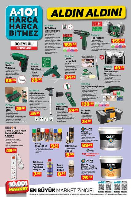 A101 ve BİM aktüel ürünler listesi | 30 Eylül A101 - 1 Ekim BİM aktüel ürünler listesi