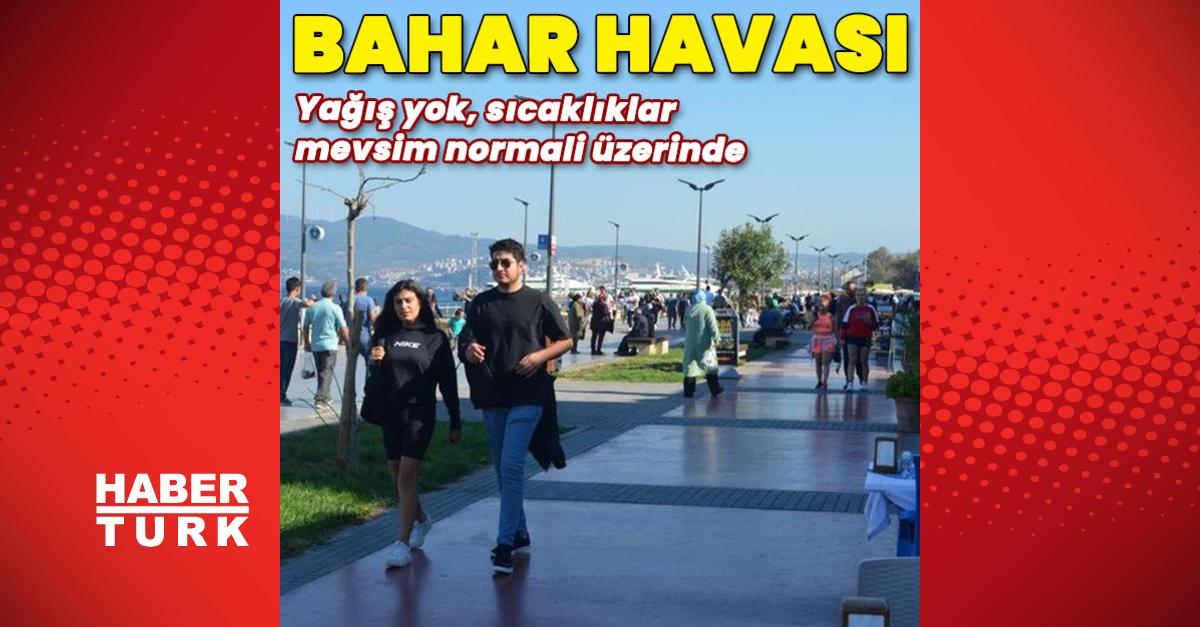 Türkiye güneşli, sıcaklıklar mevsim normalleri üzerinde