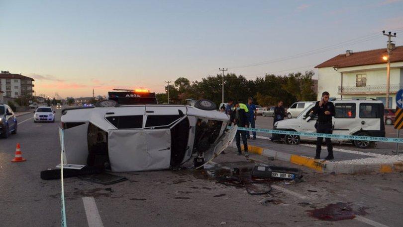 Aksaray'da trafik kazası: 1 ölü, 1 yaralı