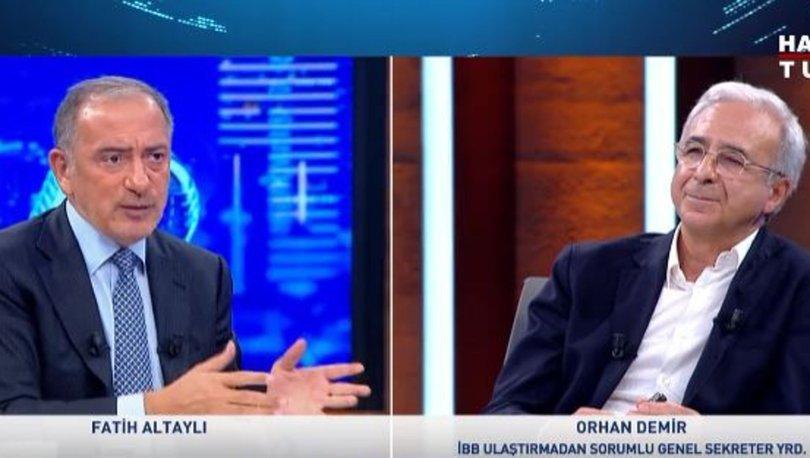 Son dakika: İBB'den trafiğin çözümü için iki öneri! İBB Genel Sekreter Yardımcısı Orhan Demir, Habertürk TV'de