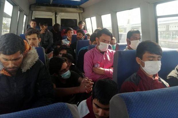 Afganistanlı 29 kaçak göçmen yakalandı