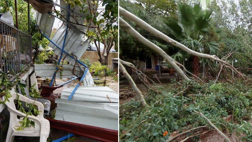 Muğla'da fırtına bazı evlerin çatılarını uçurdu - Haberler