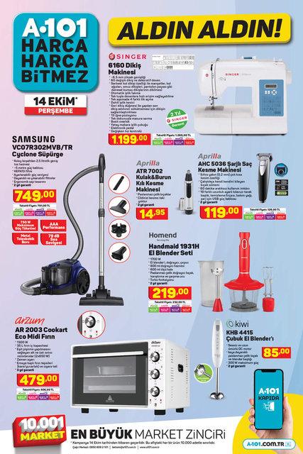 A101 aktüel ürünler 14 Ekim kataloğu | A101'de indirim günü: Televizyon, laptop, telefon