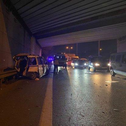 TEM Otogar Bağlantı yolunda zincirleme trafik kazası: 2 yaralı
