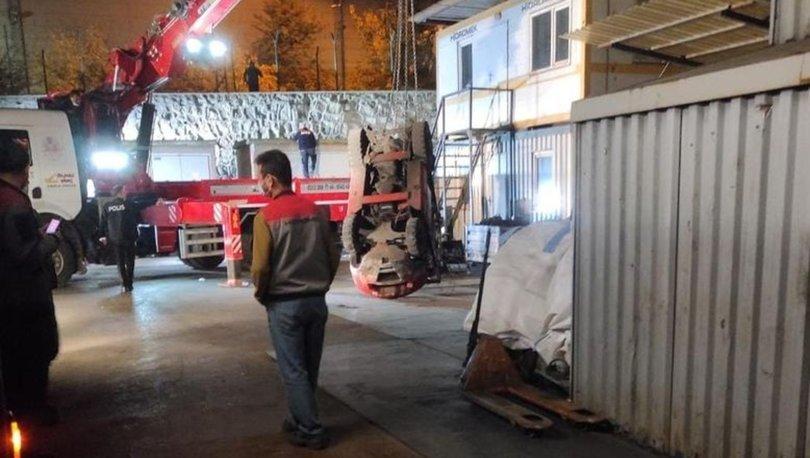 Ankara'da Forklift'in altında kalan işçi hayatını kaybetti