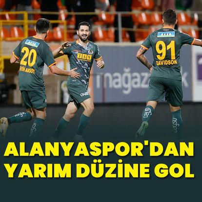 9 gollü maçı Alanya kazandı!