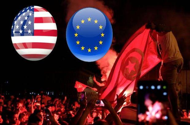 Tunus'ta AB ve ABD'ye karşı protesto